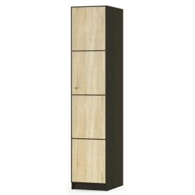 Пенал Мебель-Сервіс Фантазія 1Д 450х2160х561 мм венге темний/дуб самоа
