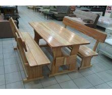 Комплект дерев'яних меблів з модрини