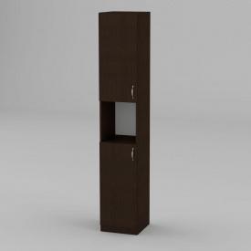 Книжный шкаф Компанит КШ-10 1950x366x350 мм венге