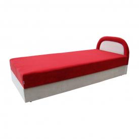 Кровать Вика Ривьера 90 с матрасом мебельная ткань 90х202х80 см