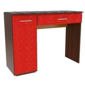 Туалетний столик БМФ Верона СТ-128 1020х780х400 мм лілія червона / чорна лак / венге темний