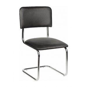 Офисный стул АМF Квест Кожзам черный 570х470х810 мм хром