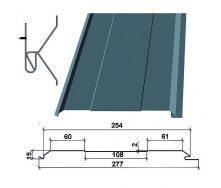 Сайдинг фасадный металлический ТермаSteel Доска 254 мм