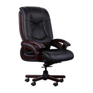 Кресло AMF Ванкувер DT кожа Люкс черная 70x70x114 см