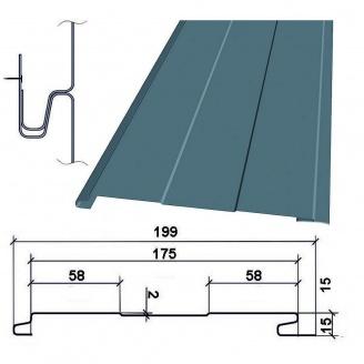 Сайдинг фасадный металлический ТермаSteel Доска бесшовная 175мм