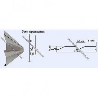 Сайдинг фасадный металлический ТермаSteel Корабельная доска 226 мм