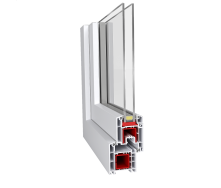 Металлопластиковое окно Aluplast ПВХ IDEAL 2000