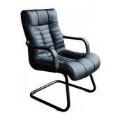 Кресло AMF Атлантис CF кожа Сплит черная 62x72x102 см