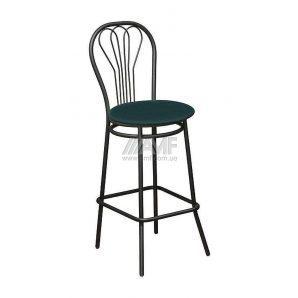 Барний стілець AMF Ванесса Хокер Скаден темно-зелений 420х470х1110 мм чорний