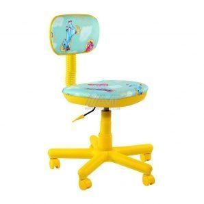 Детское кресло AMF Свити Пони бирюзовые 102 600x600x700 мм желтый