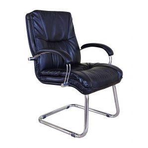 Кресло AMF Палермо CF Хром Флекс-кожа черная Лайт 62x74x101 см