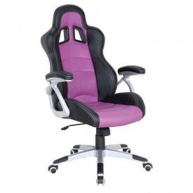 Кресло AMF Форсаж 2 PU черный 70x72x122 см сиреневые вставки