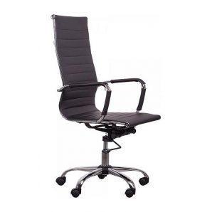 Кресло AMF Слим HB PU черный 63x65x110 см