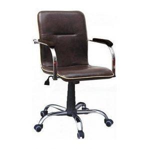 Кресло AMF Самба-RC Софт Мадрас дарк браун 64x68x89 см хром с кантом
