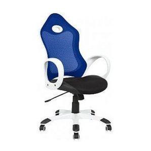 Кресло AMF Матрикс-1 сетка черная/сетка синяя 69x76x113 см белый