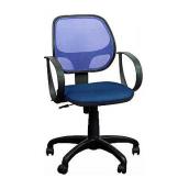 Кресло AMF Бит АМФ-8 сетка синяя 64x64x90 см