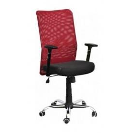 Кресло AMF Аэро Люкс сетка черная Неаполь N-20/сетка красная 65x65x106 см