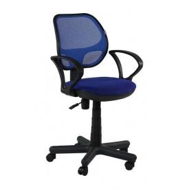 Кресло AMF Чат АМФ-4 А-21/cетка синяя 60x68x87 см