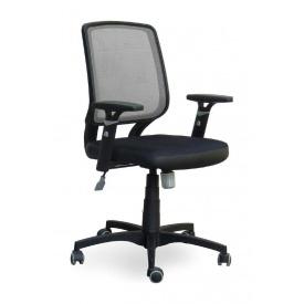 Кресло AMF Онлайн сетка черная/сетка серая 65x65x93 см