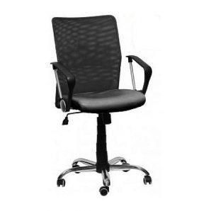 Кресло AMF Аэро LB сетка черная Неаполь N-20/сетка черная 60x60x87 см