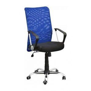 Кресло AMF Аэро HB сетка черная Неаполь N-20/сетка синяя 64x75x104 см