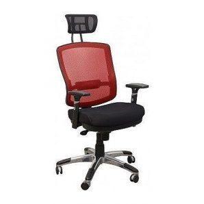 Кресло AMF Коннект HR сетка черная/сетка красная 70x70x127 см