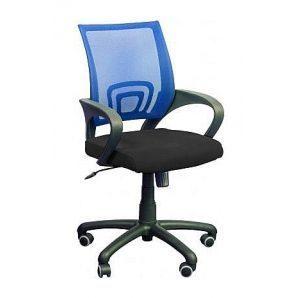 Кресло AMF Веб сетка черная/сетка синяя 65x65x90 см