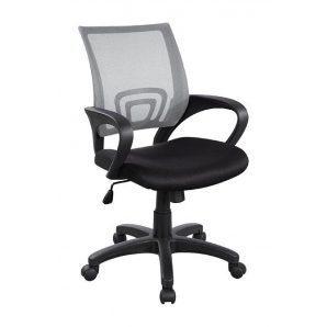 Кресло AMF Веб сетка черная/сетка серая 65x65x90 см