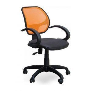 Кресло AMF Байт АМФ-5 сетка черная/cетка оранжевая 65x65x87 см