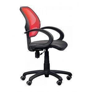 Кресло AMF Байт АМФ-5 сетка черная/cетка красная 65x65x87 см