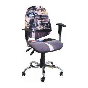Кресло детское AMF Бридж Гонка №1 650х650х1090 мм хром