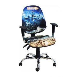 Кресло детское AMF Бридж Пираты №1 650х650х1090 мм хром