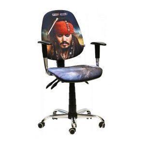 Кресло детское AMF Бридж Дисней Пираты Карибского моря Джек Воробей 650х650х1090 мм хром