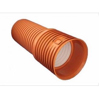 Гофрированная двухслойная канализационная труба SN8 ф110 мм