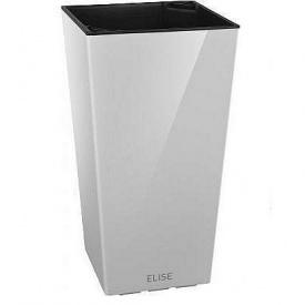 Розумний вазон ELISE матовий 25х25х46 см білий