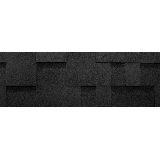 Бітумна черепиця Katepal Rocky 1000х317 мм чорна