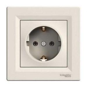 Розетка Schneider Electric Asfora EPH2900123 с заземлением кремовый