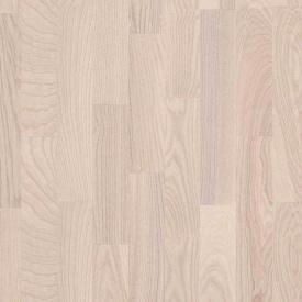 Паркетная доска BEFAG трехполосная Ясень Рустик Kopenhagen 2200x192x14 мм белый лак