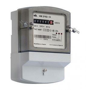 Счетчик электроэнергии NIK 2102-02 М1В однофазный электромеханический 220В