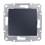 Выключатель двухклавишный Schneider Electric Sedna SDN0300170 71х71х42 мм графит