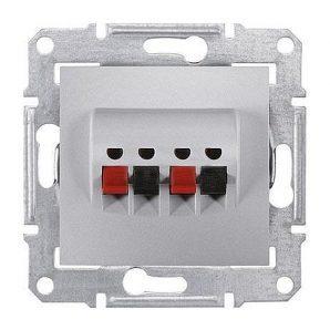 Аудиорозетка Schneider Electric Sedna SDN5400160 71х71х44,5 мм алюминий