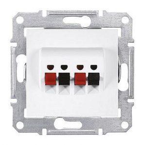 Аудиорозетка Schneider Electric Sedna SDN5400121 71х71х44,5 мм белый