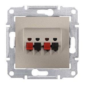 Аудиорозетка Schneider Electric Sedna SDN5400168 71х71х44,5 мм титан