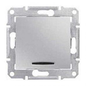 Выключатель двухполюсный Schneider Electric Sedna SDN0201260 красный индикатор 16 А алюминий