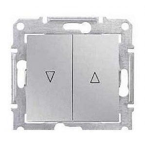 Выключатель для жалюзи Schneider Electric Sedna SDN1300160 с электронной блокировкой алюминий
