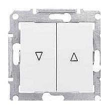Выключатель для жалюзи Schneider Electric Sedna SDN1300121 с электронной блокировкой белый