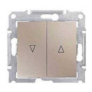 Выключатель для жалюзи Schneider Electric Sedna SDN1300168 с электронной блокировкой титан