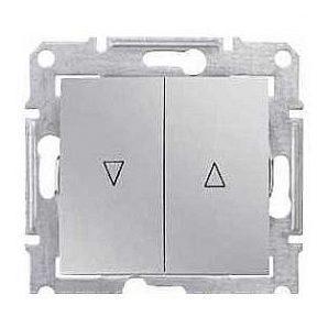 Выключатель для жалюзи Schneider Electric Sedna SDN1300360 с механической блокировкой алюминий