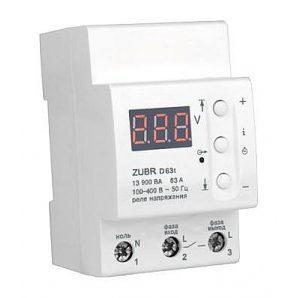 Реле напряжения Zubr D63T 13,9 кВт