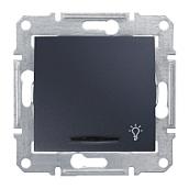 Выключатель кнопочный Schneider Electric Sedna SDN1800170 Свет с подсветкой графит